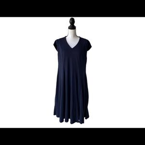 Lafayette 148 Navy Blue Dress / Size 1X